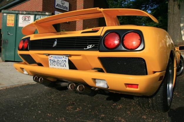 Yellow Lamborghini Diablo SV Rear