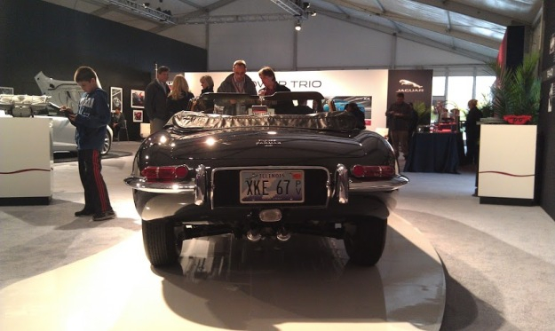 Black Jaguar E-Type Rear