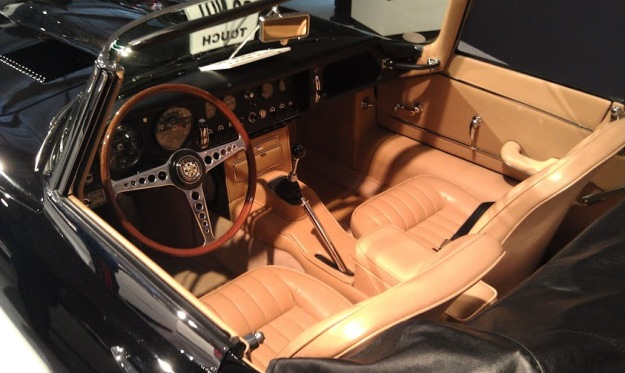 Black Jaguar E-Type Interior
