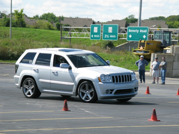 Silver WK Jeep Grand Cherokee SRT-8 Autocross