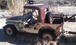 Yellow Willys Jeep Desert Queen Ranch Joshua Tree
