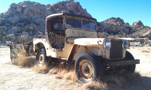 Willys Jeep in Joshua Tree